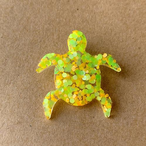 Yellow Dot Turtle Pin