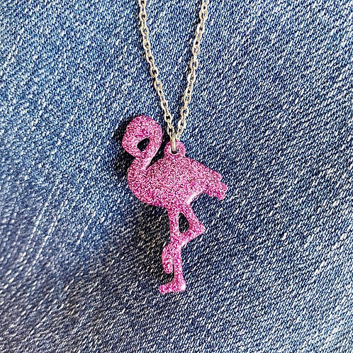 Resin Flamingo Necklace