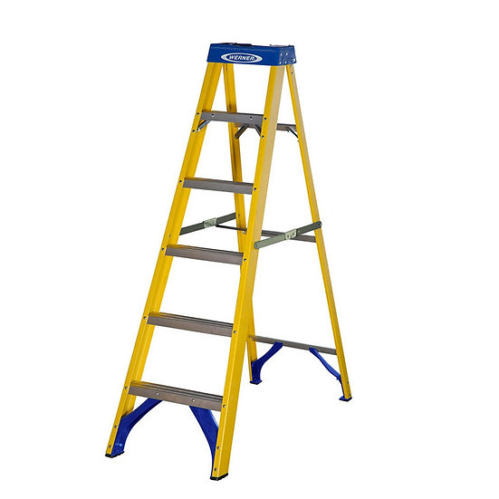 Ex-Hire 6 Rung Werner Step Ladder (1.7M)