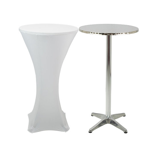 Poseur Table - White Cover