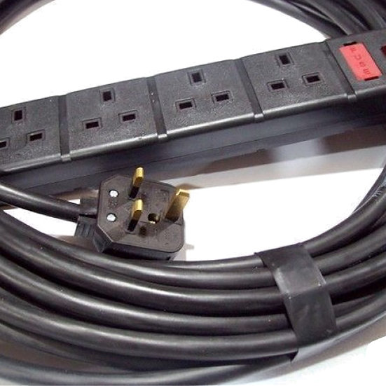 13A 4-Way Mains Extension (10m)