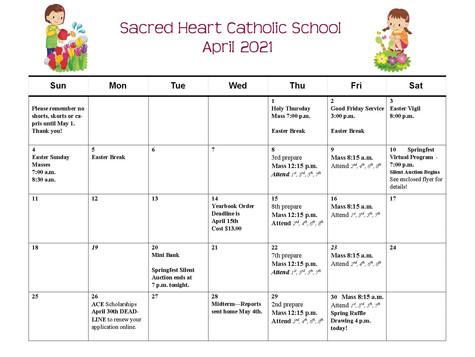 April 2021 School Calendar
