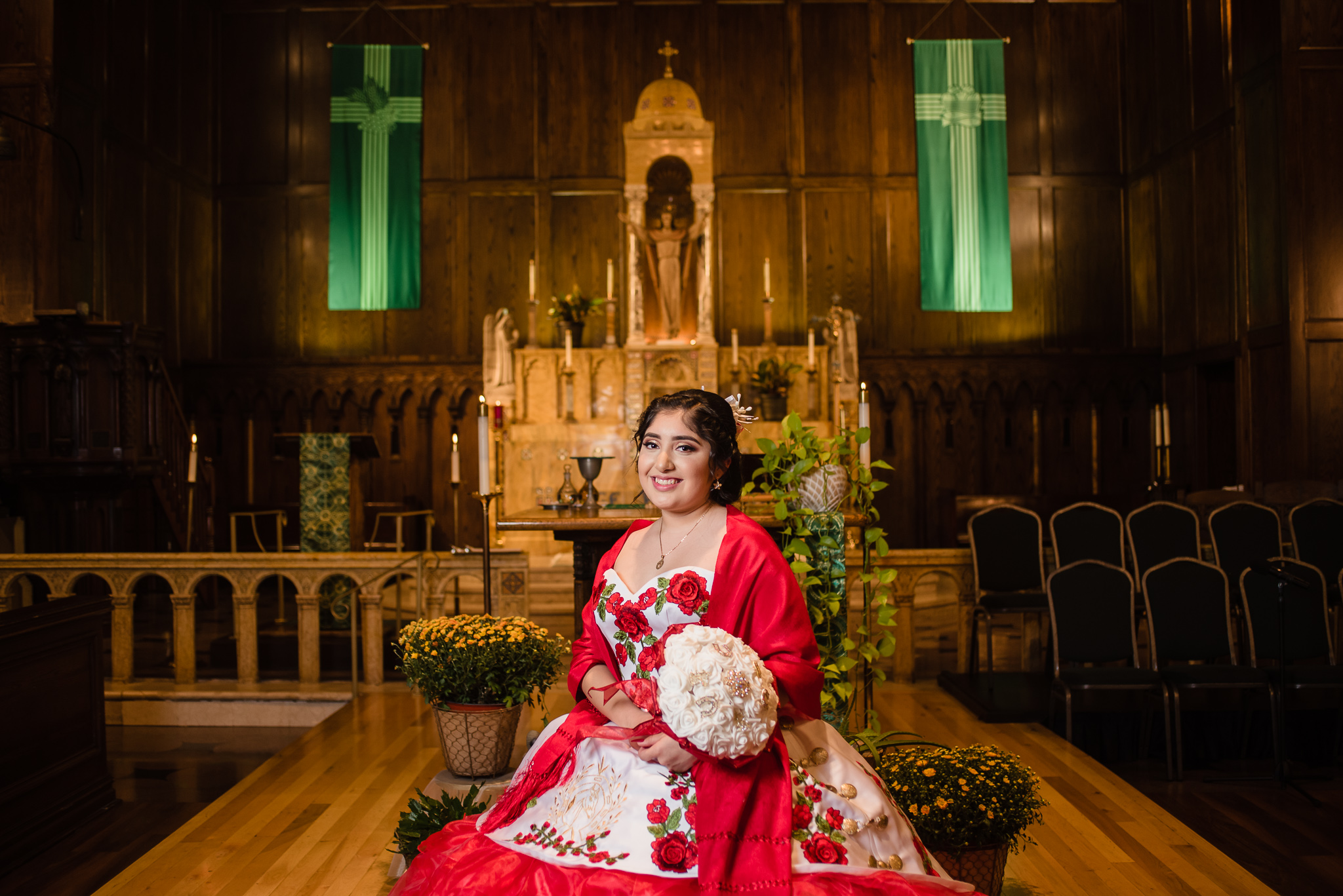 charro themed quinceanera photography by Olga and Jose Chicago Photographers
