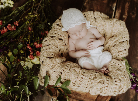 Leap Baby Rustic Newborn Girl Session | Olga + Jose Studios, Niles Il.