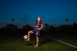 quinceanera in soccer uniform