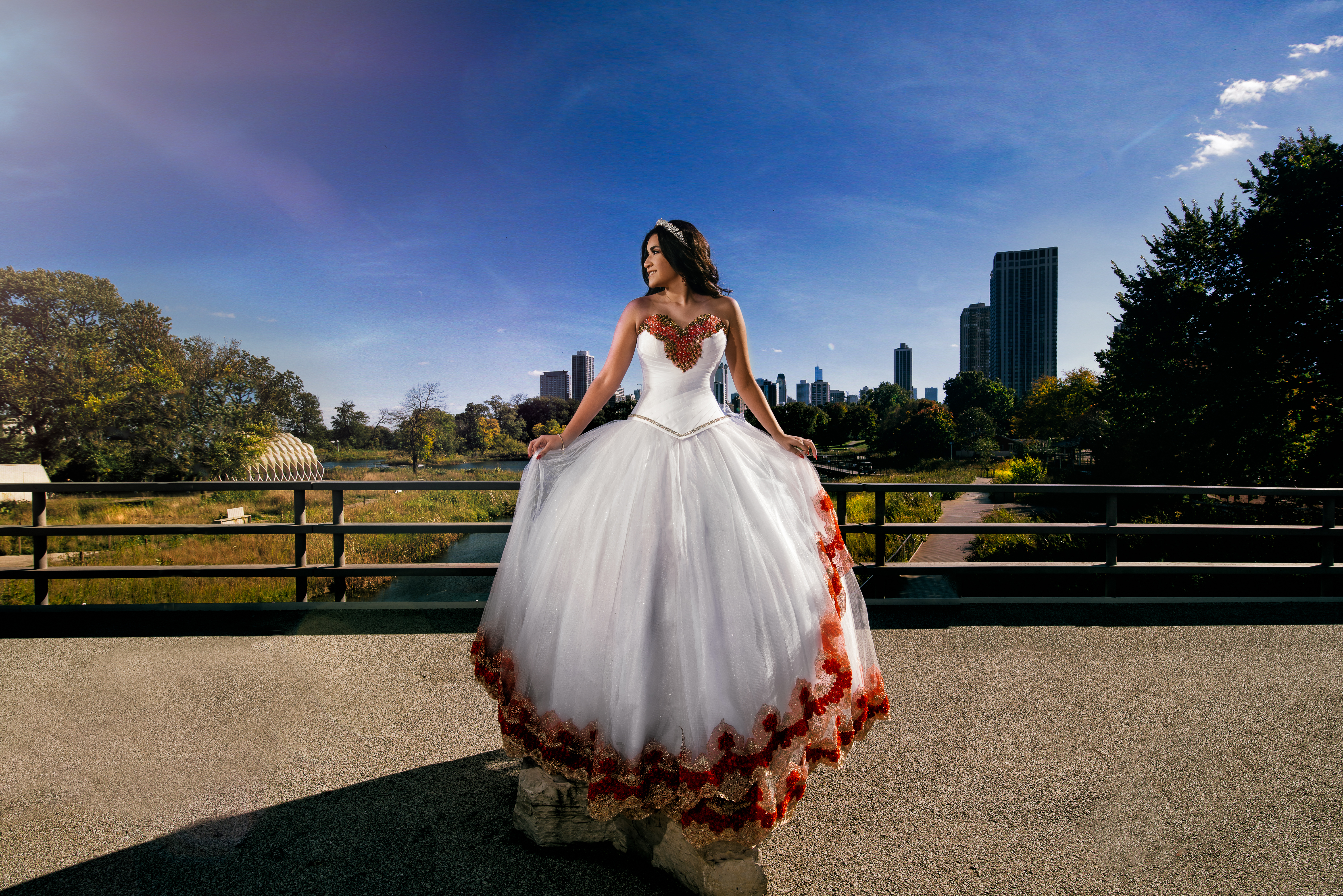 Lincoln Park Quinceanera photo by Olga and Jose