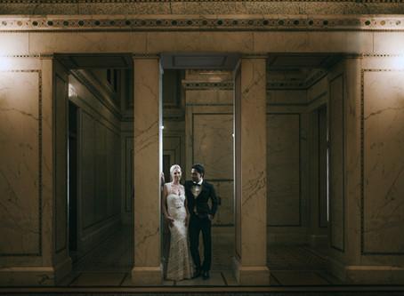 Sri & Jen | Chicago Cultural Center | Downtown Chicago Wedding Photos | Wedding & Engagement