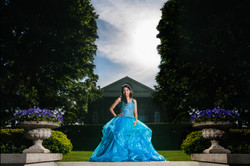 quinceanera photo in cantigny park