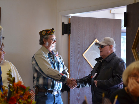 To help when asked - a Veteran's Day reunion