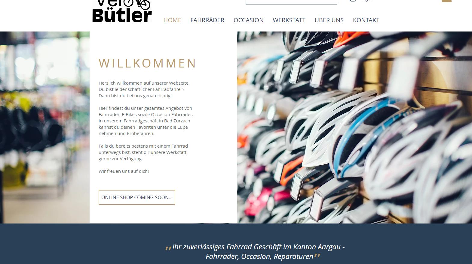 Velo Bütler - Online Shop coming soon...