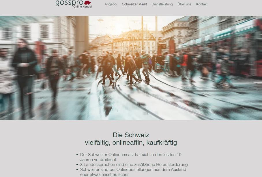 Gosspro - Online Handel