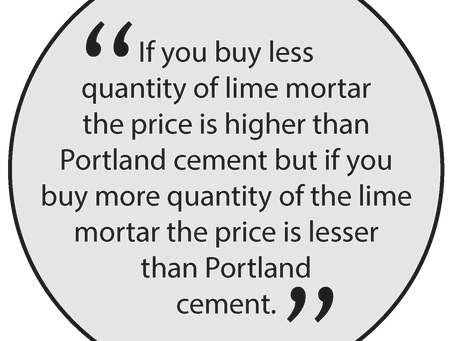 What is the Beneficial Difference between Lime Mortar and Portland Cement?