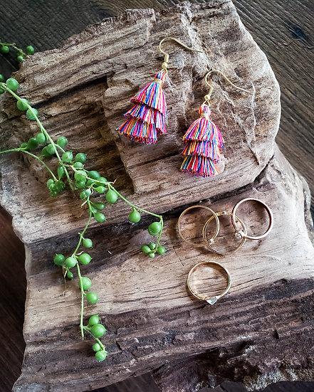 Tri-Tassel Earrings