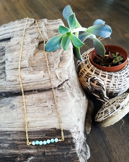 Lucky 7 Amazonite Necklace | Love + Happiness + Flow with Life