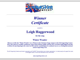 Double Winner in the UK Songwriting Contest!