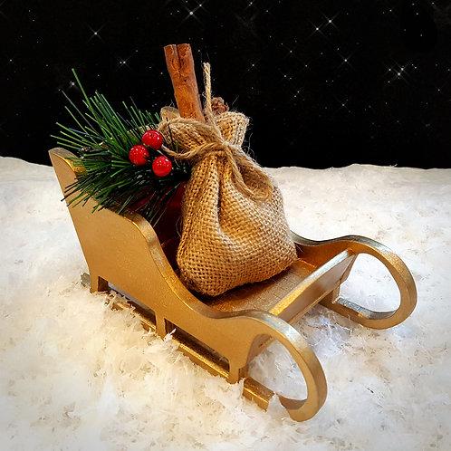 Golden Christmas Sleigh