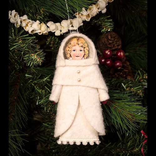 Handmade Snowgirl Decoration