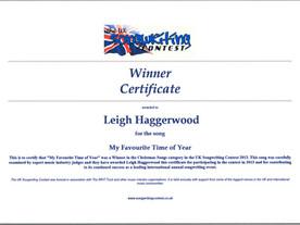 UK Songwriting Contest Winner