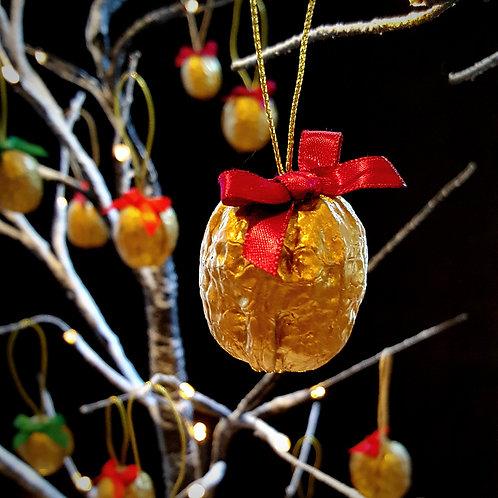 Set of Three Golden Walnuts