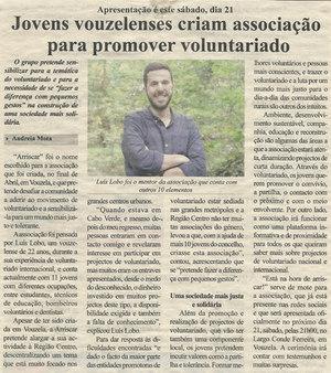 Jovens Vouzelenses criam associação para promover voluntariado