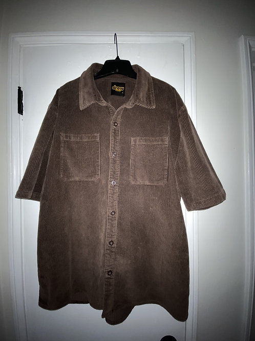 Corduroy SS Shirt - Chocolate - by Drew Hype