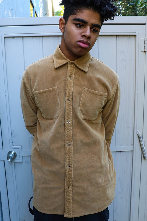 Chaz Corduroy LS Shirt - Camel - by Drew Hype