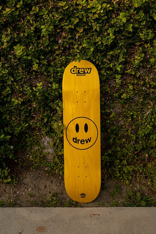 Mascot Skate Deck - Golden Yellow - by Drew Hype