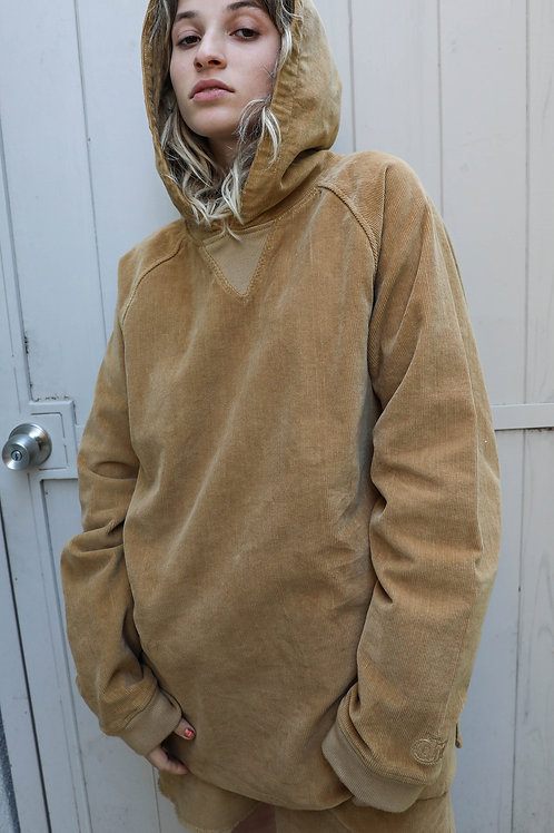 Chaz Corduroy Pullover Hoodie - Camel - by Drew Hype