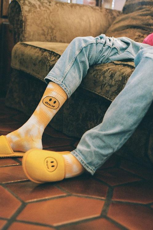 Drew Socks - Mustard Tie Dye - by Drew Hype