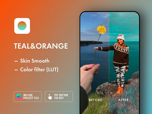 Filter «TEAL & ORANGE» for Instagram (Spark AR)