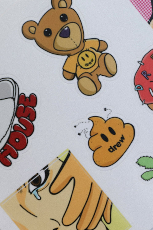 Drew Sticker Sheet 1 - OS - by Drew Hype