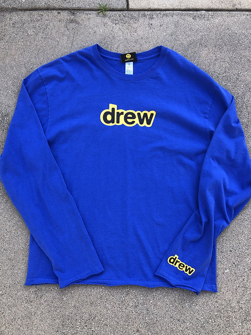 Secret LS Tee - Royal Blue - by Drew Hype