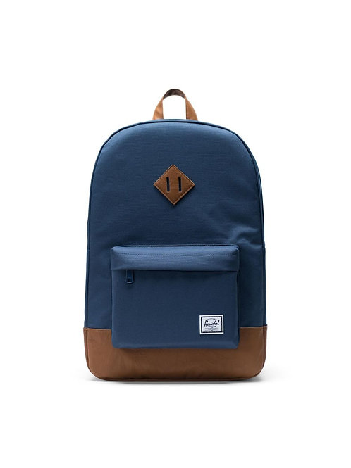 Herschel Supply Co. Heritage Backpack Color: Navy/Tan Synthetic Leather