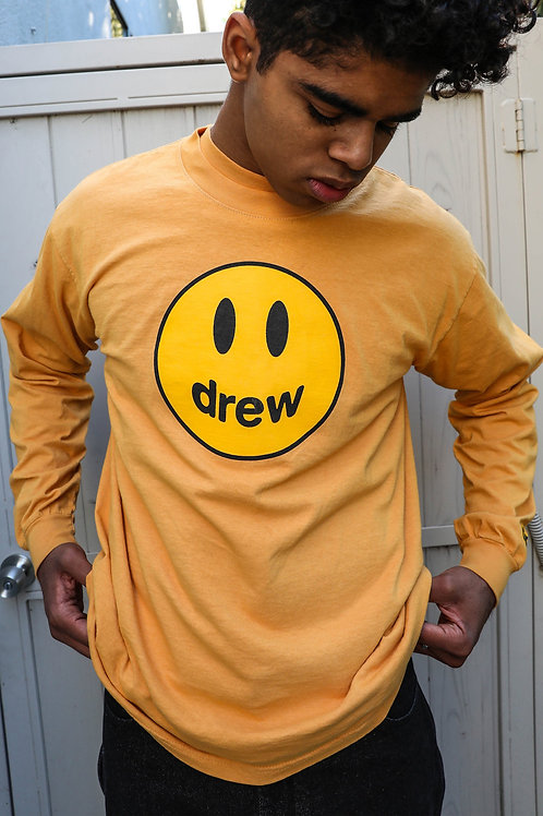 Mascot LS Tee - Golden Yellow - by Drew Hype