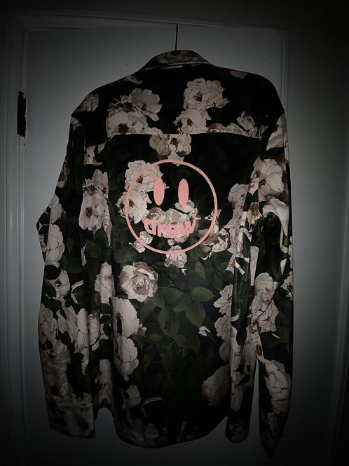 Velvet L/S Shirt - Iceberg Roses - by Drew Hype