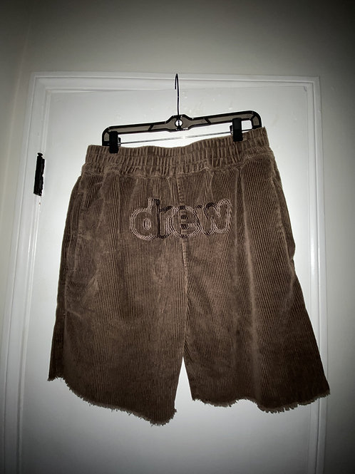 Corduroy Shorts - Chocolate - by Drew Hype