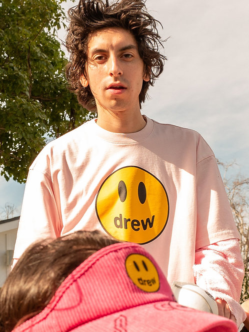 Mascot SS Tee - Pale Pink - by Drew Hype