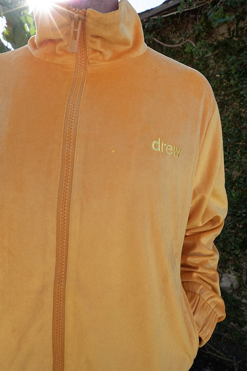 Drew Velour Track Top - Golden Yellow - by Drew Hype