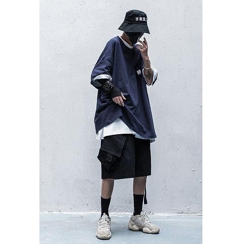 工業風短褲 INDUSTRIAL SHORTS - Black