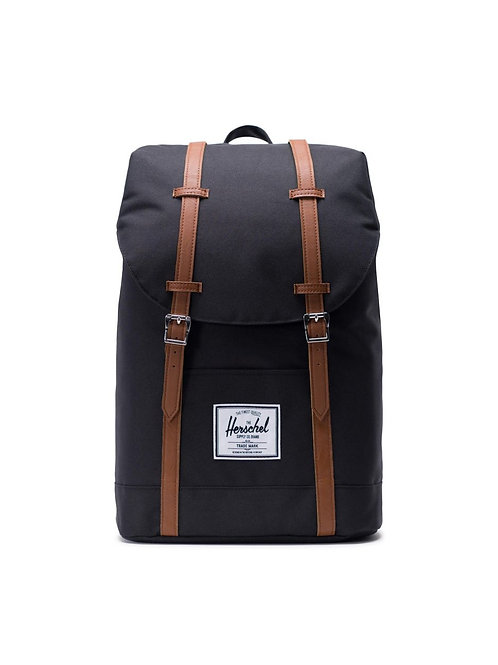 Herschel Supply Co. Retreat Backpack Color: Black/Tan Synthetic Leather