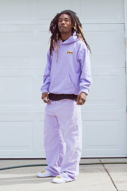 Secret Embroidery Hoodie - Lavender - by Drew Hype
