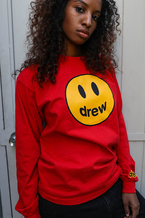 Mascot LS Tee - Red - by Drew Hype