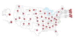 Map of all Keller Williams offices in the United States