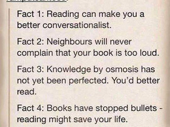 Fun Reading Facts & A Cautionary Tale!