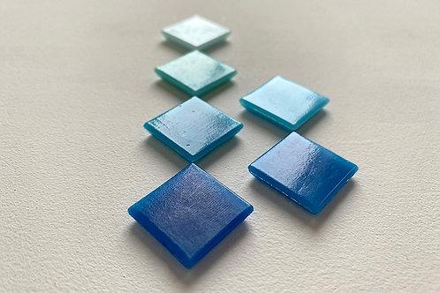 Мозаїка сині відтінки / гладка і пориста фактури
