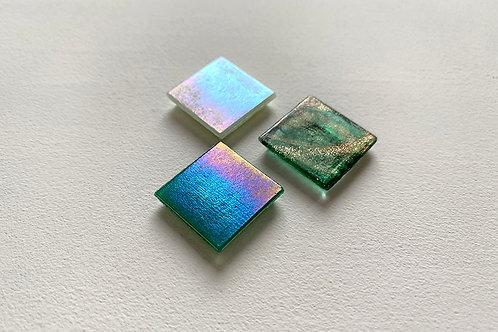 Мозаика зеленые оттенки / перламутр и золото