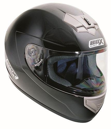 Box BX-1 Full Face Helmet Gloss Black Double D-Ring
