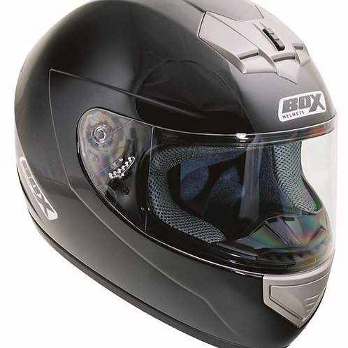 Box BX-1 Full Face Helmet Gloss Black Double D-Ring