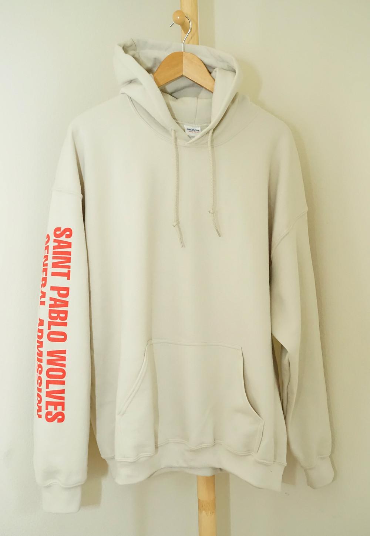 saint pablo wolves cream hoodie