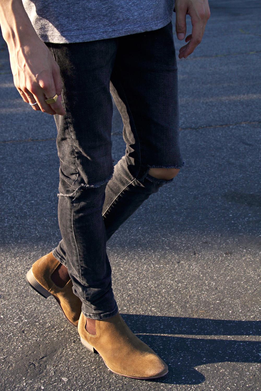 topman, brown chelsea boots, $150